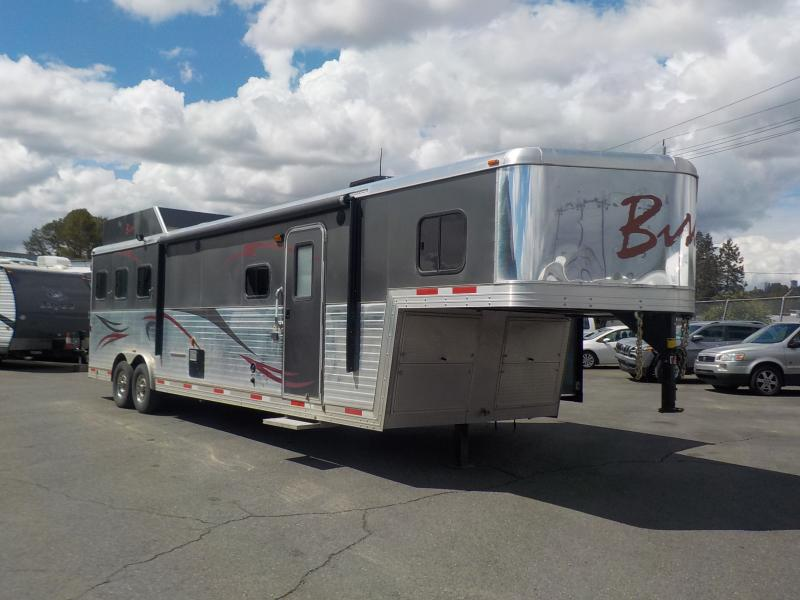 Bison Horse Trailers >> Repo.com | 2013 Bison Stratus 8312MME 36 Foot 3 Horse Trailer with Separated Living Quarters