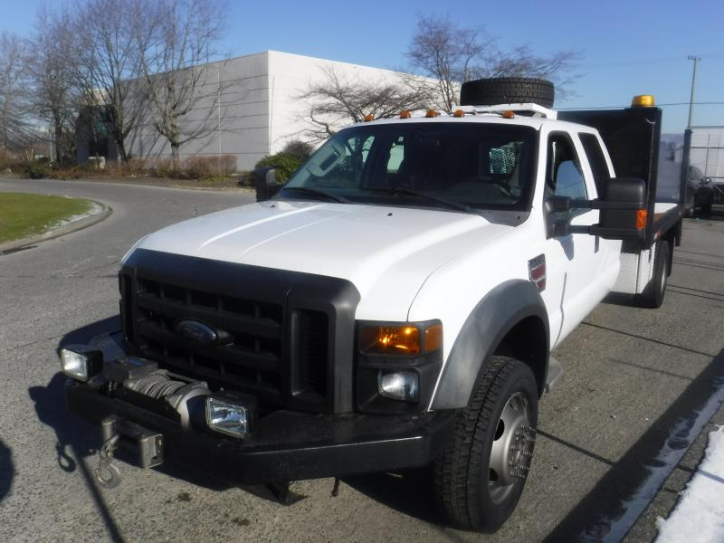repo com 2008 ford f 450 sd crew cab 12 foot flat deck 4wd dually rh repo com