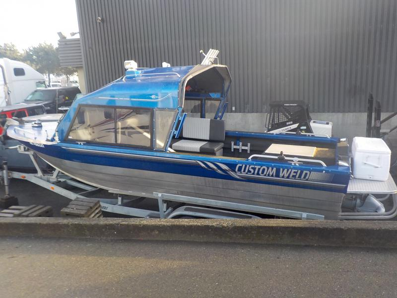 Aluminum Boats For Sale Bc >> Repo Com 2006 Custom Weld 22 Foot Aluminum Boat With